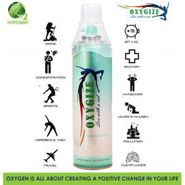 oxygize Oxygen can for Hiking (Peppermint Flavor)