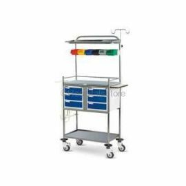Fully Stainless Steel Crash Cart Trolley