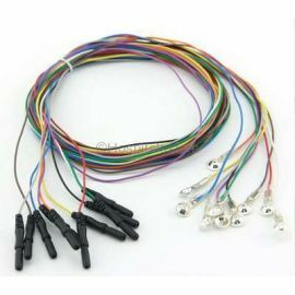 EEG Leads 24-lead DIN/PIN Style, 24 Wires Pack, Brand Quality Din 1.5mm Colorful EEG Cable Silver Plated Cap Electrode