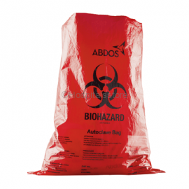 Abdos Biohazard Bright Red Autoclave Bags (Pack of 200)