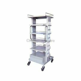 Wellton WH-566 Monitor Trolley Stainless Steel