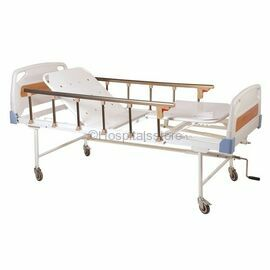 Surgix ICU Patient Bed HI-LO Hydraulic, Hospital Bed with ABS Head and foot bows & Side Railings