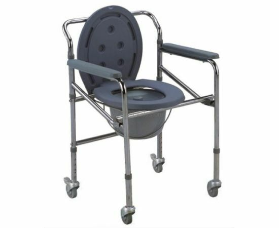 Wheelchair with Toilet Facility (Height Adjustable)